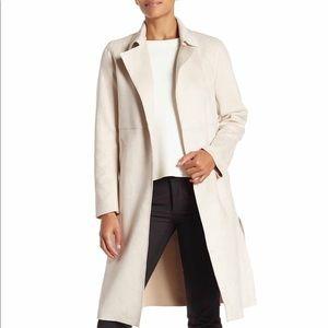 Catherine Malandrino Ivory Faux Suede Jacket